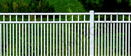 White San Marino Commerical Grade Aluminum Fence With Additonal Pickets