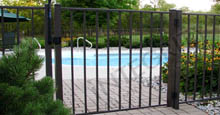 San Marino Aluminum Swimming Pool Single Gate and Fence