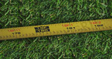 Measuring Tape For Measuring the Perimeter of Landscape Where Aluminum Fencing Will Be Installed